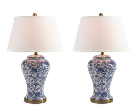Blue & White Blossom Lamps.  Spring home decor refresh.  Pair of blue and white blossom table lamps.     http://liketk.it/3dxSf #liketkit #LTKhome #LTKstyletip @liketoknow.it @liketoknow.it.home