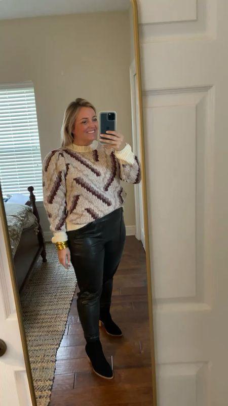 Great dressy sweater combo for fall amd winter wearing a size large    #LTKSeasonal #LTKstyletip #LTKunder50