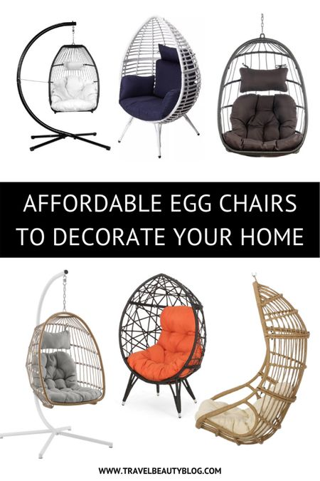 Summer home decor: beautiful and cheap egg chairs to decorate your home this summer. Perfect for your garden, patio, bedroom, living room, poolside and so much more!   #LTKhome #LTKfamily