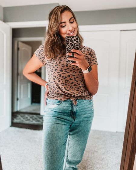 Mom jeans and cheetah print is all I'll need this fall 🍂🐆 Wearing a size L in this shirt. http://liketk.it/2TPhZ @liketoknow.it #liketkit #StayHomeWithLTK #LTKcurves #LTKstyletip