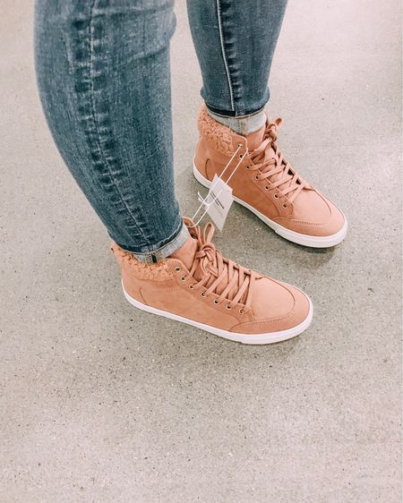 Guys how cute are these Old Navy pink Sherpa sneakers? They run true to size and are so comfortable!! Pair with some jeans for a cozy look! http://liketk.it/2yzWw #liketkit @liketoknow.it #LTKshoecrush #LTKstyletip #LTKunder50 #LTKunder100 #LTKsalealert
