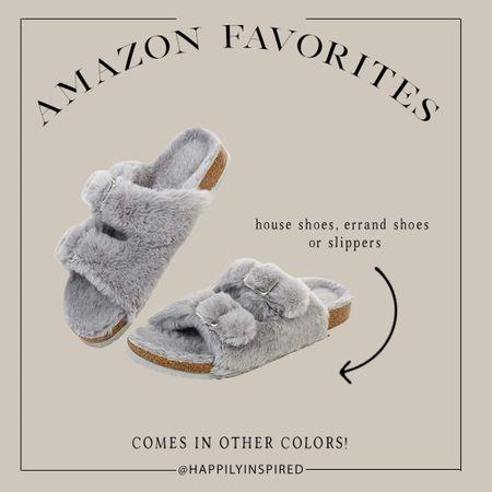 Amazon finds, amazon must haves, faux fur slippers, faux fur shoes, faux fur cozy, cozy finds! Comes in multiple colors!   #LTKSeasonal #LTKGiftGuide #LTKunder50