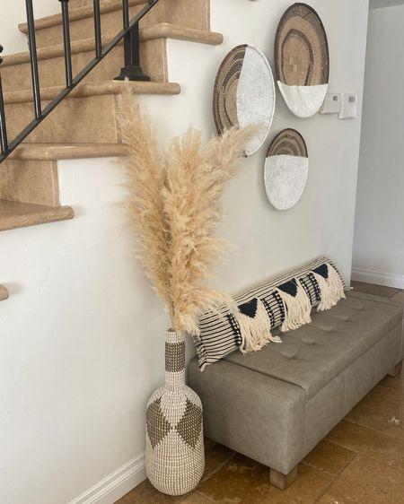 Love these #bohodecor accents to style any room in the house #pampasgrass #livingroom #masterbedroom #bathroomdecor @liketoknow.it  http://liketk.it/38bBU #liketkit