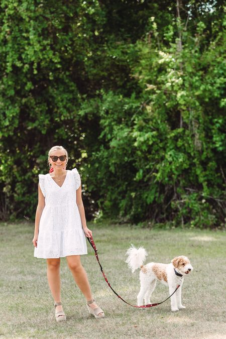 Love all white outfits! This has been one of my go-to eyelet dresses and guess where it is from? Walmart! The quality is amazing seems like an item from Anthropologie 🤩 it's sold out in a lot of sizing so linking similar dresses that I love!!   #LTKunder50 #LTKwedding #LTKsalealert