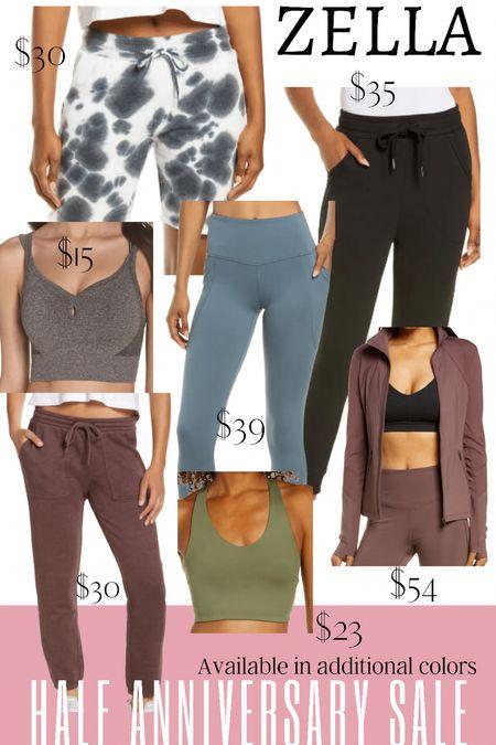 Zella sale items in the Nordstrom half anniversary sale. Leggings. Sports bra. Tie dye shorts   #LTKfit #LTKsalealert #LTKunder50