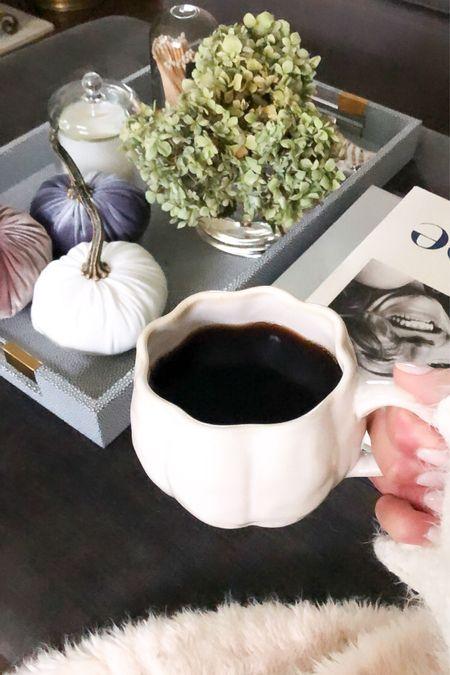 Fall home decor Pumpkin mug Velvet pumpkins   #LTKhome #LTKSeasonal #LTKunder50