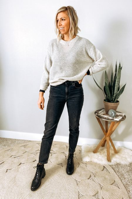 http://liketk.it/2ZMZB #liketkit @liketoknow.it  Everlane Mini cozy fall capsule...  This alpaca sweat is soooo soft (not scratchy) and I love the neutral color paired with black for a. Elevated cozy outfit. #LTKstyletip #LTKshoecrush #LTKworkwear