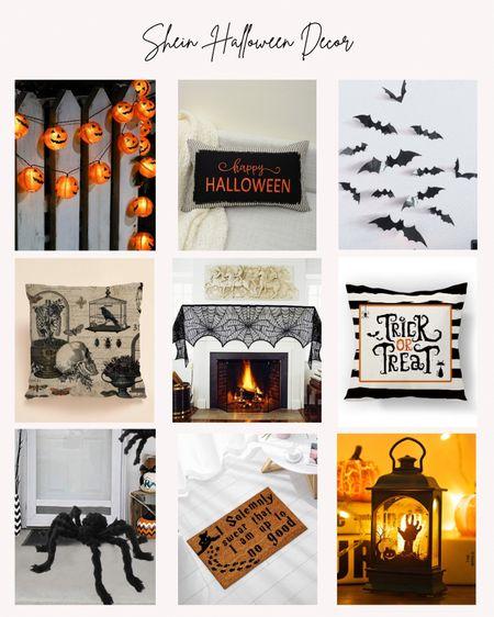 Shein, Halloween, home decor, holiday, pumpkins, bats, throw pillows, lantern, rugs  #LTKunder50 #LTKhome #LTKSeasonal