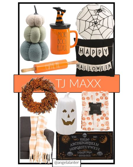Snatch up some of these cute Halloween pieces from TJMaxx before they're gone! #tjmaxx #halloween #halloweendecor  #LTKunder50 #LTKHoliday #LTKunder100