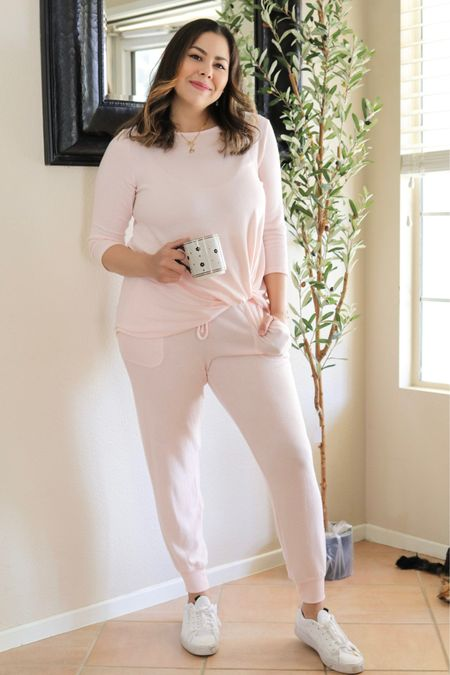 similar Cozy pink loungewear on sale, cozy at home style, Gibsonlook  #LTKsalealert #LTKSeasonal #LTKunder100