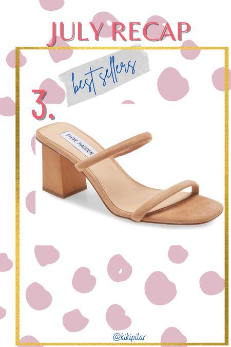 Best Sellers July // neutral sandal // Steve Madden // dress sandal   #LTKwedding #LTKshoecrush #LTKunder100