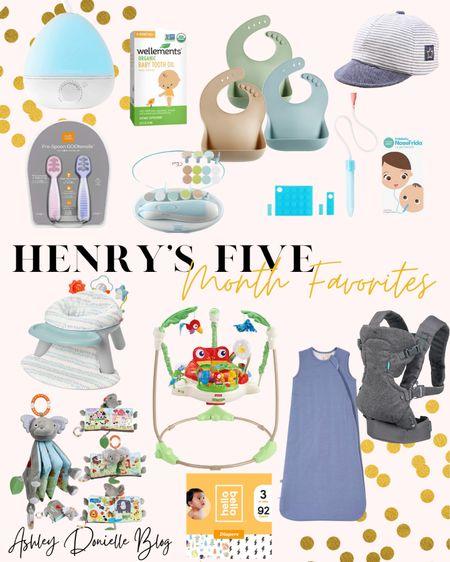 Henry's Five Month Favorites - bouncer, bibs, sleeping gown, baby carrier + more!  #LTKhome #LTKkids #LTKbaby
