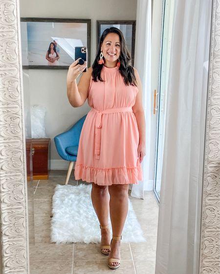 Summer dress, coral pink. I'm wearing XL. http://liketk.it/2SCHf #liketkit @liketoknow.it