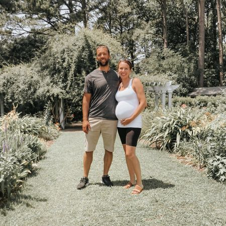 Comfiest pregnancy outfit 😊  #LTKSale #LTKunder100 #LTKfamily