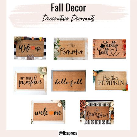 """Time for fall decor! Anyone else really excited to decorate? Loving all of these fall themed doormats and had a tough time choosing which to get in the end. Standard size is 18""""x30"""", but some come in smaller and larger sizes.   #LTKSeasonal #LTKhome"""