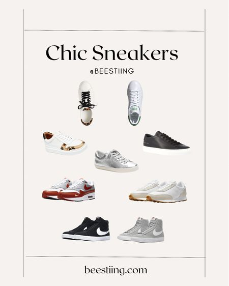Chic Sneakers in Classic Silhouettes. Perfect to dress up or down.  Nordstrom | Up to 60% OFF ASOS | Up to 50% OFF Nike & adidas J. Crew | 40% OFF with code HELLOFALL Banana Republic | Extra 50% OFF sale + extra 1O% OFF with code BRLD10  #LTKshoecrush #LTKstyletip #LTKsalealert
