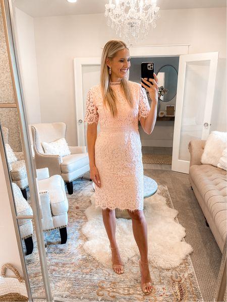 Love my Rachel Parcell lace dress! 💗 True to size, wearing a small.   #LTKstyletip #LTKworkwear #LTKwedding