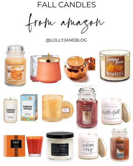 Fall candles from Amazon   Lolly Jane Blog | #LollyJaneBlog   #LTKunder50 #LTKunder100 #LTKhome