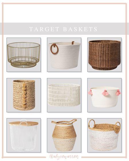 Baskets for all the things!   Toy storage, nursery, playroom, kids bedroom, Target, Pillowfort, wore basket, woven basket, basket with handles  #LTKkids #LTKhome #LTKbaby