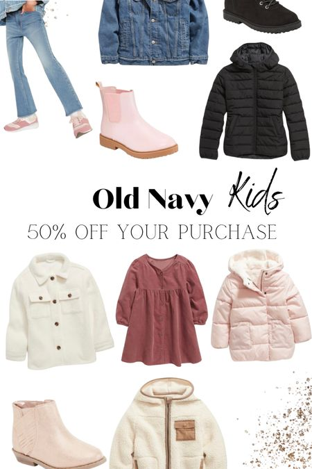 Old Navy: 50% off your purchase   #LTKsalealert #LTKfamily #LTKkids