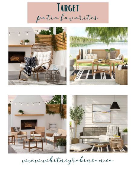 Spruce up your patio with these super cute Target finds! http://liketk.it/3cmNq @liketoknow.it @liketoknow.it.home #liketkit #LTKSpringSale #LTKhome #LTKfamily   Home decor Patio decor Porch  Outdoor furniture  Outdoor rug String lights  Furniture set  Patio makeover