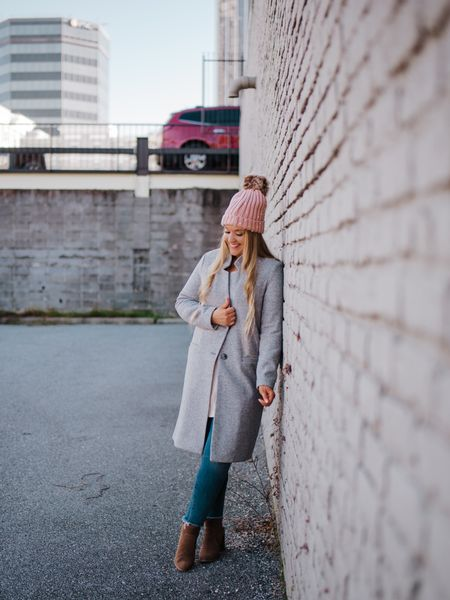 Gray relaxed long line pea coat from old navy    http://liketk.it/2HThU #liketkit @liketoknow.it #LTKshoecrush #LTKunder100 #LTKstyletip