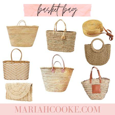 Basket bag, beach bag, straw tote, French market bag, straw cross body http://liketk.it/3fFaX #liketkit @liketoknow.it #LTKitbag #LTKunder100 #LTKstyletip