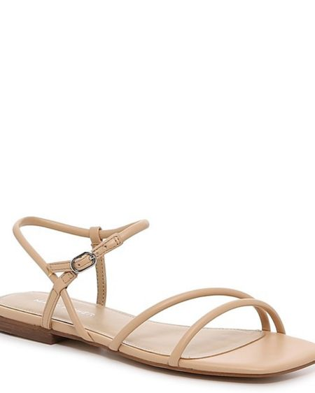 New Addition for Spring Summer, nude flat square toe sandal  http://liketk.it/3c3Dd #liketkit @liketoknow.it