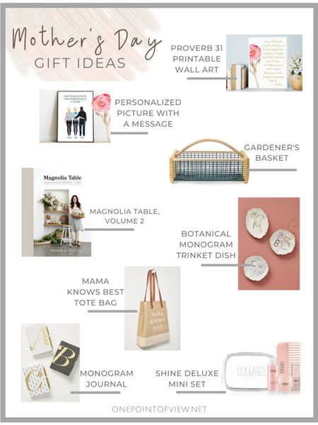 Mother's Day gift ideas🎁🥰 - Mother's Day, gifts, journal, personalized gift, Joanna Gaines, Garden Basket, Monogram Plate, Planner, Unique Gift  http://liketk.it/2Nedg #liketkit @liketoknow.it #StayHomeWithLTK #LTKsalealert @liketoknow.it.home @liketoknow.it.family #LTKunder50