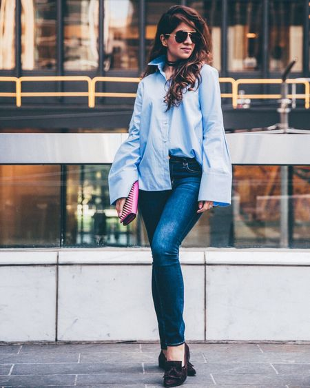 Did everyone get a chance to check out how I styled an oversized blue shirt on the blog. If not - click on the link above 👆🏻 And don't forget to sign up on http://liketk.it/2qvhm to receive my outfit details emailed to your inbox. @liketoknow.it #liketkit #LTKstyletip
