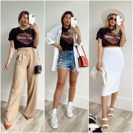 Ways to Wear a Graphic Tee      #LTKstyletip