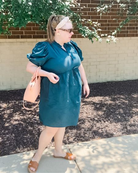 Hot 🥵 Girl Summer calls for trying to stay cool in dresses and slides.   Summer dress   summer outfit   brown sandals   brown slides   seersucker dress.   #LTKSeasonal #LTKunder50 #LTKstyletip