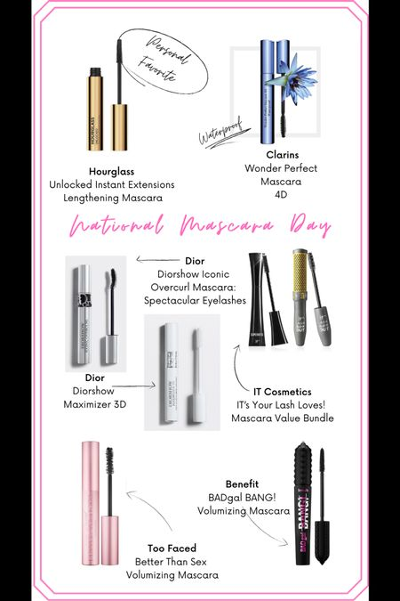 Happy National Mascara Day! Here are some of my personal favorites, dynamic duos, and best sellers that will lift your lashes to a new high!  Save 15% off at Clarins, get a free gift at Dior with $75 purchase, and get the IT cosmetics bundle for $35 (a $50 value)! http://liketk.it/38GG6 #liketkit @liketoknow.it #LTKsalealert #LTKbeauty