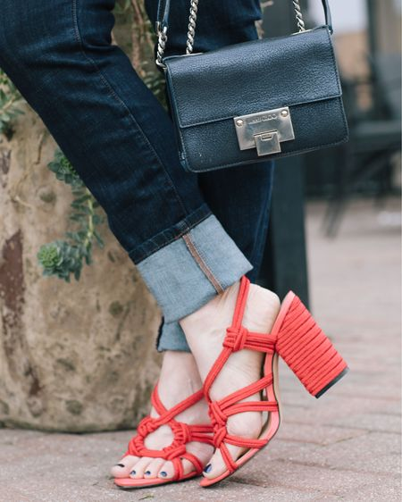 Primary colors are perfect for spring. I love mixing accessories across the color wheel. Red shoes with a blue bag is perfection. http://liketk.it/3cWMP #liketkit @liketoknow.it #LTKshoecrush #LTKitbag #LTKstyletip Shop your screenshot of this pic with the LIKEtoKNOW.it shopping app