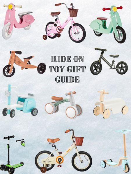 Ride on Toy Gift Guide.  #LTKHoliday #LTKkids #LTKGiftGuide