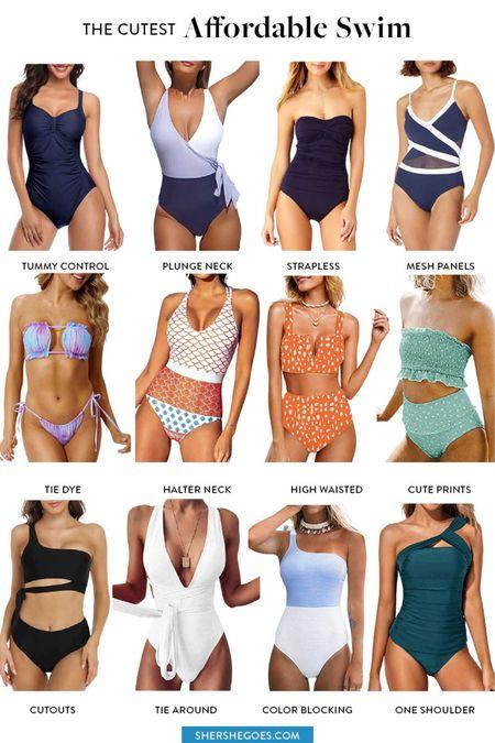 Swim, swim outfit, swim looks, affordable swim, affordable one piece, cheap bikini, amazon swim, amazon fashion, amazon finds, amazon bikinis, amazon tankini, amazon one piece  #LTKstyletip #LTKunder50 #LTKSeasonal