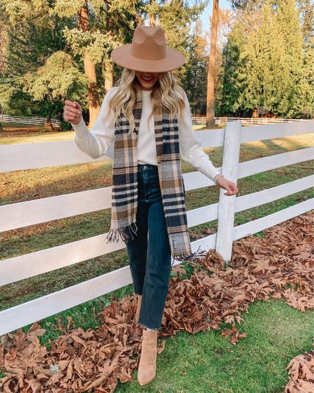 The perfect fall outfit! http://liketk.it/30MOR #liketkit @liketoknow.it #LTKunder100 #LTKunder50 #LTKstyletip scarf blanket scarf sweater jeans