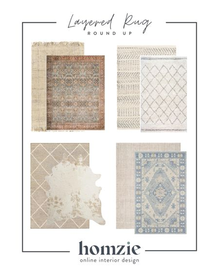 Layered rugs, jute, sisal, vintage rugs, cowhide and shag rugs. We'll show you how to layer rugs like a pro!   #LTKhome