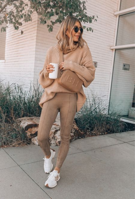 Sweater and sneakers linked from this look! Wearing size small