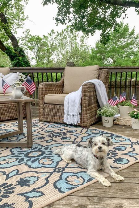 Who's ready to celebrate Independence Day?!? Adding simple American flags to your decor can make such a statement!!❤️🤍💙  Here I added the American flags 🇺🇸 to this little creamer and my potted plants on the patio, and I love how it looks with the white pillows!🤍  I've also linked our outdoor all-weather wicker furniture set! We've had and loved this set for over four years and it's holding up beautifully! Always feel free to dm me @rouseinthe_house on Instagram if you have any questions!💙🤗  Outdoor Furniture  Outdoor decor  Patriotic decor America Flags  Ironstone Creamer   http://liketk.it/3hsL6 #liketkit @liketoknow.it.home @liketoknow.it @liketoknow.it.family Follow me on the LIKEtoKNOW.it shopping app to get the details for these product and others☺️  #LTKunder50 #LTKstyletip #LTKfamily