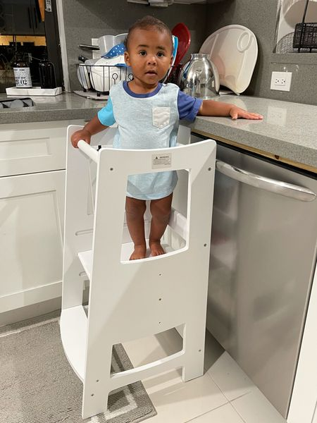 Toddler kitchen learning tower that's great for Montessori use and teaching kids to do everyday activities!   #LTKbaby #LTKfamily #LTKkids