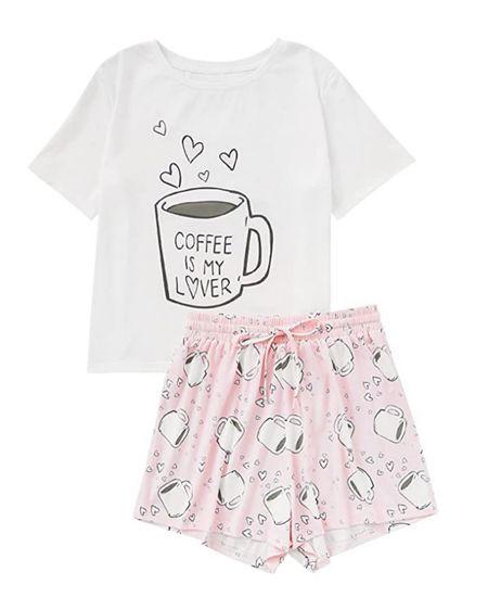 Amazon coffee pajama set. Wearing size small   #liketkit @liketoknow.it http://liketk.it/3ibrl #LTKunder50 #LTKsalealert #LTKunder100 #primeday #amazonfind #laurabeverlin