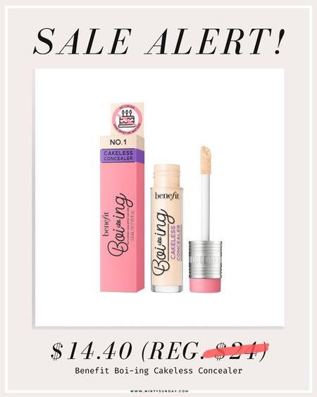 Benefit Boi-ing Cakeless Concealer sale! 40% off #ltksalealert #ltkbeauty
