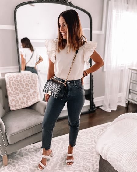 Headed out for a little date night in probably my favorite outfit ever! It's all from @express and these jeans are SO GOOD!   #LTKunder100 #LTKstyletip #LTKsalealert