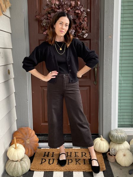 Styling the @able Irene cardigan - use code ARTINTHEFIND20 for 20% off - fits true to size Wide leg pants - Greer wide leg from @threadandseed - true to size or size up Shoes - Everlane - true to size   #LTKSeasonal #LTKHoliday #LTKstyletip