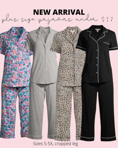 These plus size pajamas have continued to be a top seller! They go from size small to 5X, have a cropped leg for summer, and are super soft!   #LTKunder50 #LTKstyletip #LTKcurves