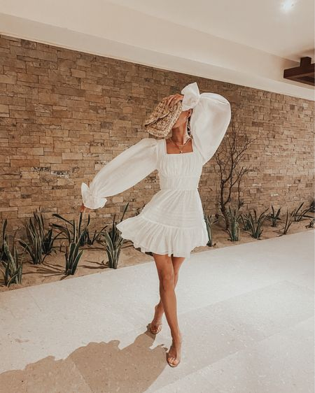 Warm nights in Mexico call for the perfect white dress! Obsessed with this white stunner and clear sandals! #liketkit http://liketk.it/3dkeV @liketoknow.it