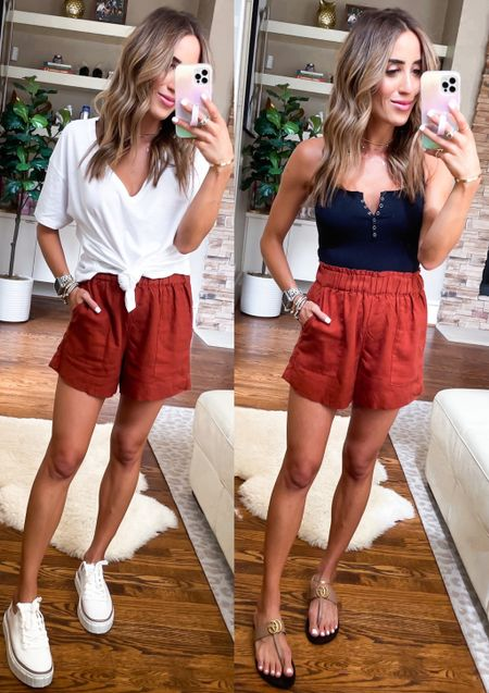 Shorts on sale size xxs, use code afbelbel bodysuit and tee size Xs   #LTKsalealert #LTKunder50 #LTKunder100