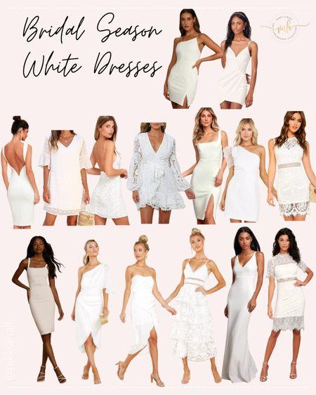 Bridal Dresses white dresses bachelorette dresses under $100   #LTKwedding #LTKunder50 #LTKunder100