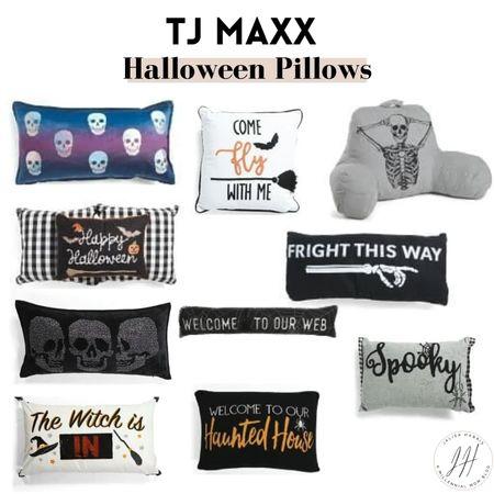 Halloween pillows under $25 at Tj Maxx   #LTKsalealert #LTKSeasonal #LTKhome